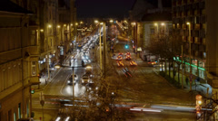 Rush hour time lapse at Buda Stock Footage