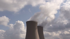 Nuclear station against sky - stock footage