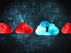Cloud With Keyhole on digital Stock Illustration