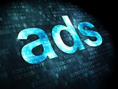 Stock Illustration of Advertising concept: Ads on digital background