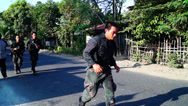 Stock Video Footage of Jogging Police Trainee