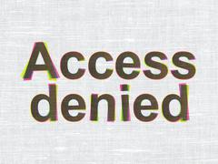 Security concept: Access Denied on fabric texture background Stock Illustration