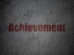 Education concept: Achievement on grunge wall background - stock illustration