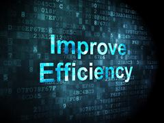 Stock Illustration of Business concept: Improve Efficiency on digital background