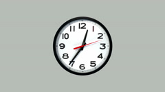 24h Hour Clock Stock Footage