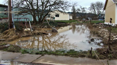 Property damage flood. Flooding area. Stock Footage