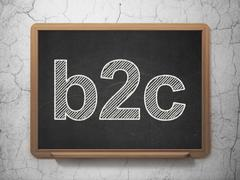 Stock Illustration of Business concept: B2c on chalkboard background