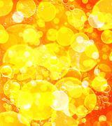 yellow bokeh abstract background. - stock photo