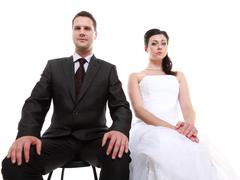 Stock Photo of bad relationship concept - married couple problem indifference depression and