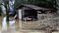 Flodded property. Floods. Stock Footage