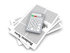 analyzing business news. - stock illustration