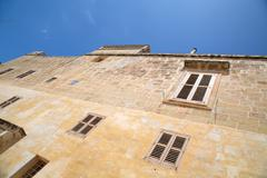 historic architecture in mdina - stock photo