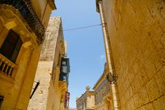 Historic architecture in mdina. Stock Photos