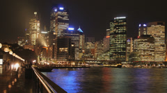 Sydney Harbour 1080p timelapse Australia. Beautiful Sydney cityscape at night Stock Footage