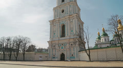 Saint Sophia Cathedral pan shot Stock Footage
