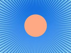 Stock Illustration of rays  in abstract orange blue  universe