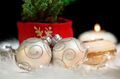Christmas ornaments festive mood - stock photo