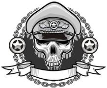 outlaw skull - stock illustration