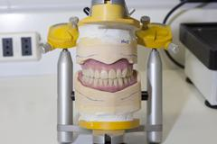 denture work in progress - stock photo