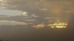 Dust Storm Timelapse at sunset - stock footage