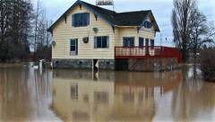House flood. Natural disaster. Stock Footage