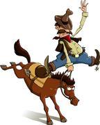 Cowboy loser Stock Illustration