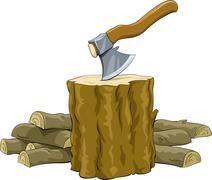 firewood - stock illustration