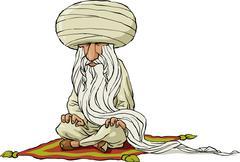 oriental sage - stock illustration
