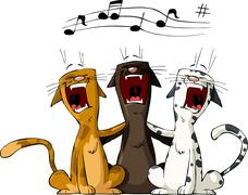 Three cat Stock Illustration
