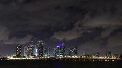 Miami Timelpase 4K Clouds Skyline Stock Footage