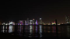 Skyline Miami Timelpase 4K No Clouds - stock footage