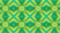 Green Kaleidoscope background, loop 3 Footage
