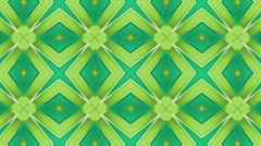 Green Kaleidoscope background, loop 3 Stock Footage