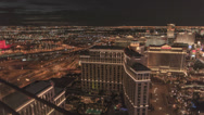Stock Video Footage of 4K UHD Night pan time lapse Las Vegas Strip from Cosmopolitan Hotel penthouse