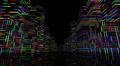 Neon Light City F1A1 4k Footage
