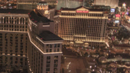Stock Video Footage of Tight V6 Night pan time lapse Las Vegas Strip from Cosmopolitan Hotel penthouse