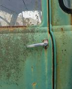 Close up of old rusty car door with space for your text Stock Photos