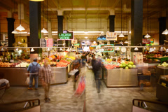 6K LA Grand Central Market Time Lapse -Full Frame- Stock Footage