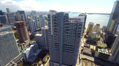 Infinity Brickell aerial Stock Footage