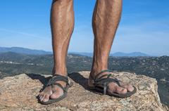 Primitive sandals Stock Photos