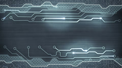 Grey circuit board loopable background Stock Footage