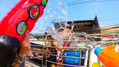 Thailand - Songkran Water Festival 2014 - stock footage