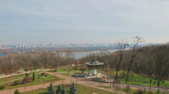 Panorama of Left Bank of Dnieper, Kiev Stock Footage