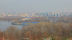 Panorama of Dnieper, Kiev Stock Footage