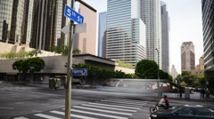 Downtown LA Intersection Daytime Time Lapse Stock Footage