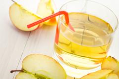 Stock Photo of healthy nutrition juice fresh apples