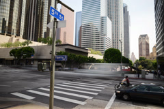4K Downtown LA Intersection Daytime Time Lapse -Full Frame- Stock Footage