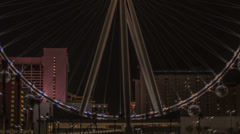 HD tight 4 High Roller worlds largest Ferris wheel by night time lapse 50mm - stock footage