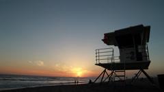 HB Lifeguard Tower 1080 Stock Footage