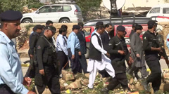 Chaudhry Nisar Along with Security and Rescue Team at Fruit Market Blast Site Stock Footage
